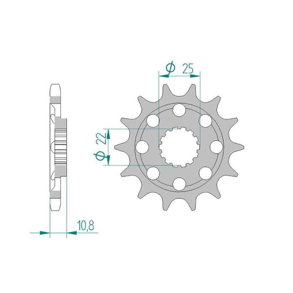 Ritzel 94807-14 #525 Sport für MV 910-1090