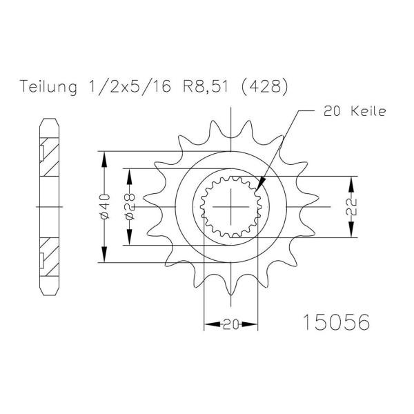 Ritzel 50-15056-14 #428