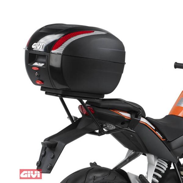 Topcase-Träger schwarz für Monolock Koff für KTM Duke 125 / 200 Bj. 11-