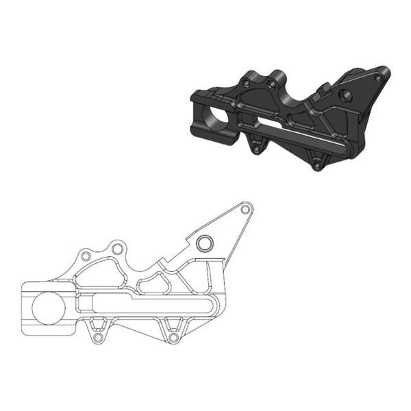 Bremssattel-Adapter Oversize Factory hinten Moto-Master 220 mm Ø schwarz