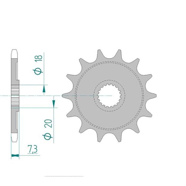 Ritzel 20206-12 #520 für CR125 87-03