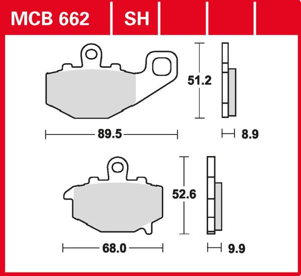 Bremsbelag TRW MCB662SH Sinter Street Hochleistungsbelag