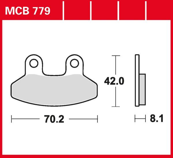 Bremsbelag TRW MCB779 organischer Allround-Bremsbelag